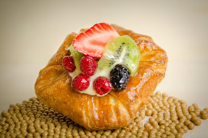 bollería con frutas