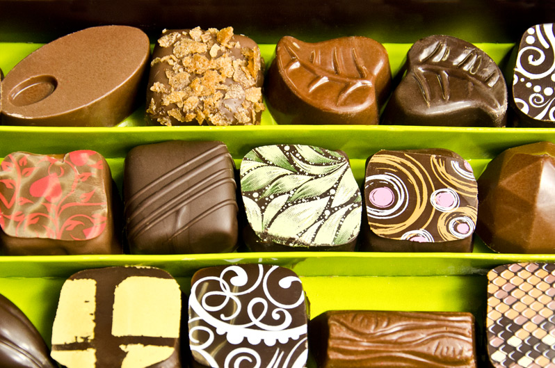 Bombones y chocolates exquisitos