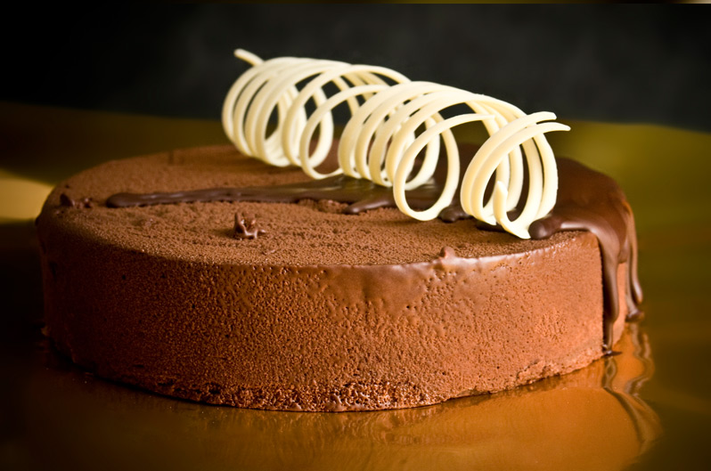Exquisita tarta de chocolate